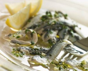 Anchovies marinated in Herbs Garlic and Lemon
