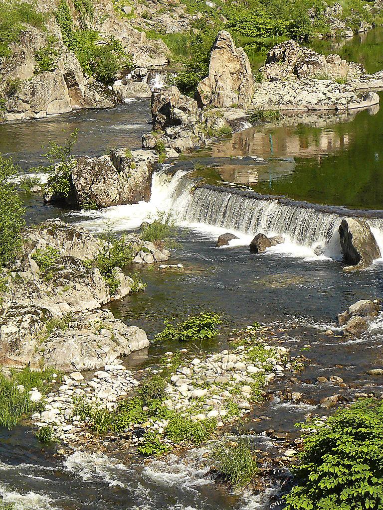 la rivière de l'Eyrieux en Ardèche